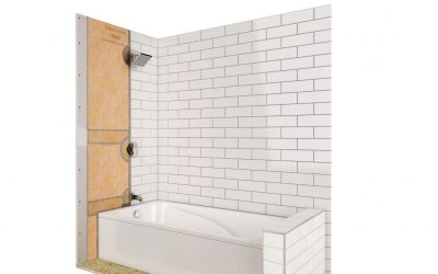 The Schluter-KERDI-TUBKIT for Waterproof Tile Tub Surrounds