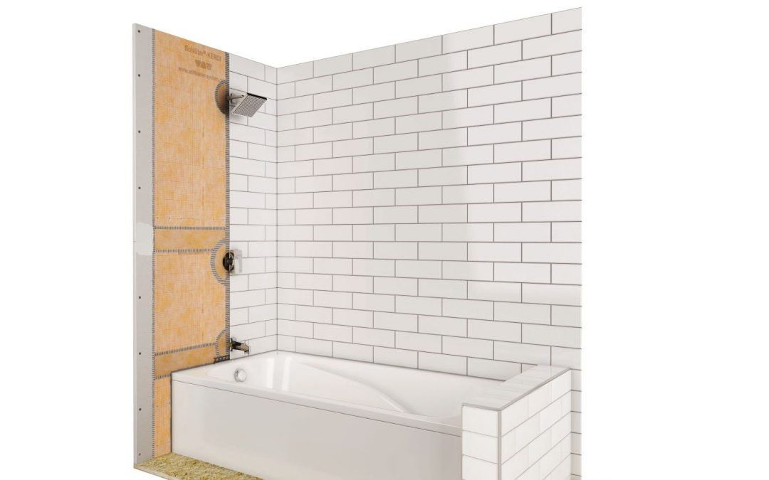 The Schluter-KERDI-TUBKIT for Waterproof Tile Tub Surrounds